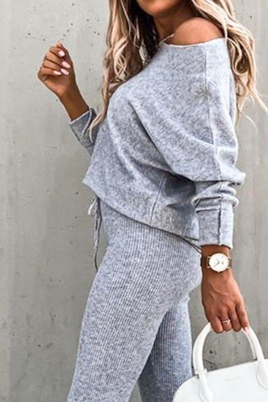 Wake Me Up Loungewear - Grey