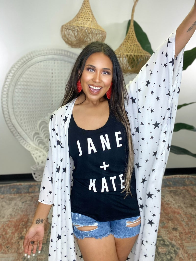 Jane & Kate Racerback Tank Top - Print