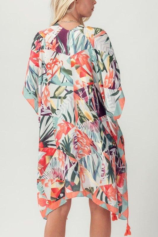Meet Me In Paradise Floral Kimono