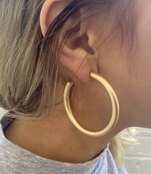 Majestic Metal Hoop Earrings