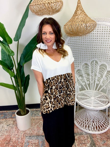 Let's Get Wild Maxi Dress - Leopard