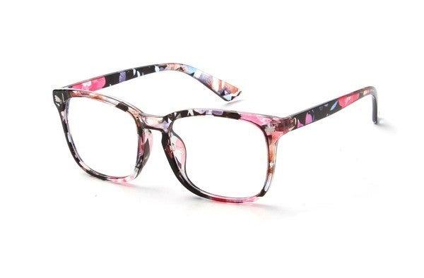 Fashion Blue Light Blocking Glasses - Floral Pink