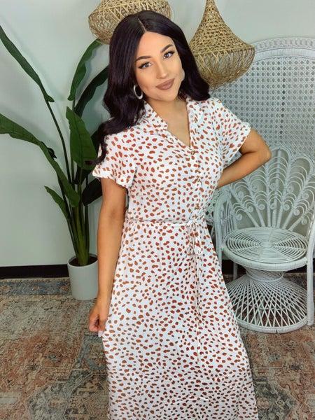 Dots Of Love Dress - White