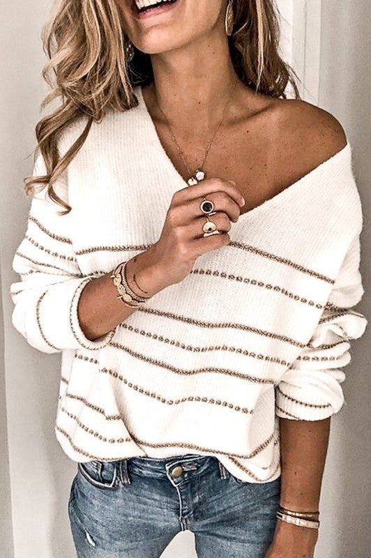 Glitter and Love Top - Ivory