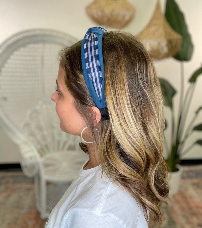 Plaid Knotted Headband