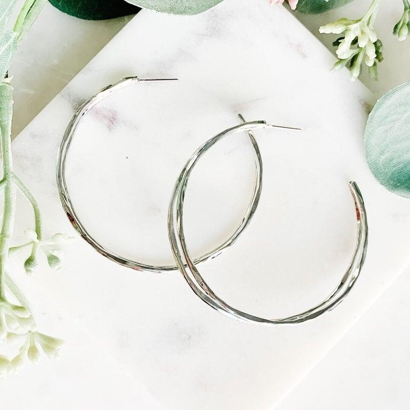 Seeing Double Hoop Earrings