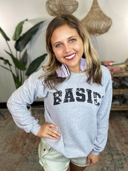 So Basic Graphic Sweatshirt