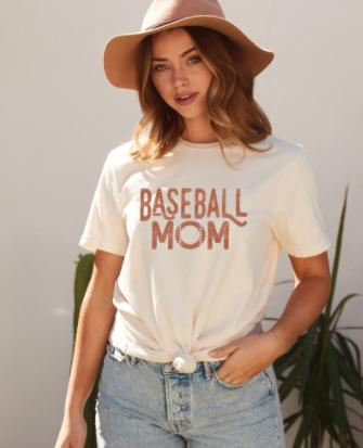 Baseball Mom Vintage Graphic Tee
