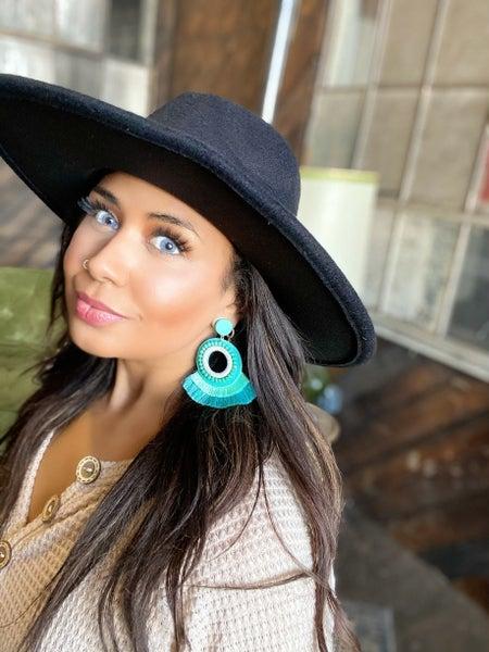 Stunner Boho Crystal Earrings - Green