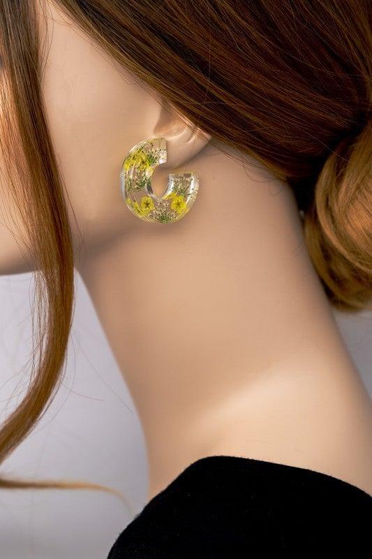 Flowers Of The Sun Hoop Earrings