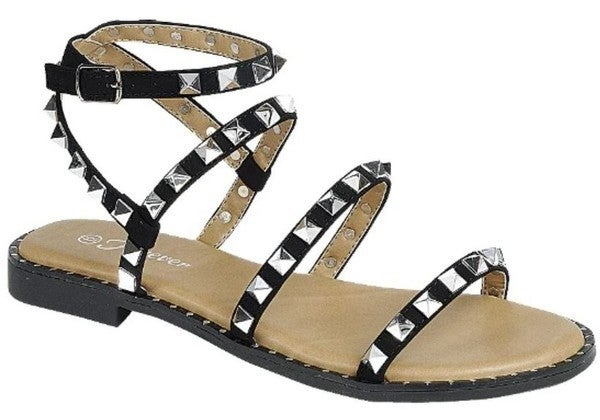 Studded Beauties Sandals - Black