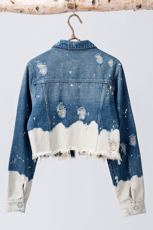 My Only Pick Bleach Dipped Denim Jacket