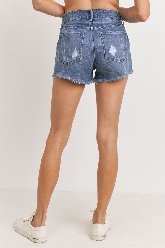 Give Me Love Distressed Denim Shorts