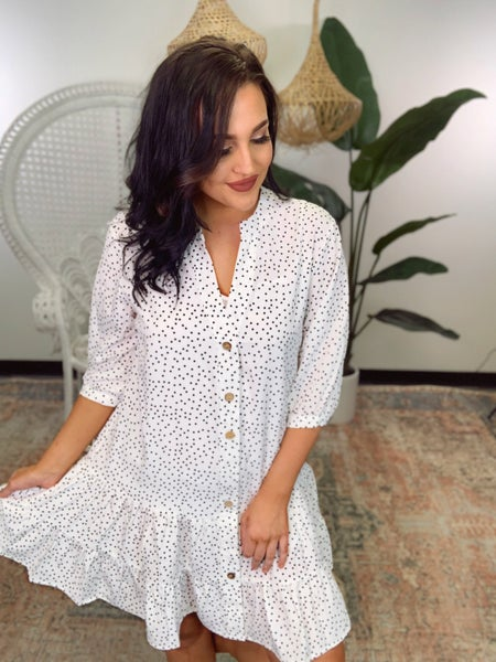 Connect The Dots Dress- Off White