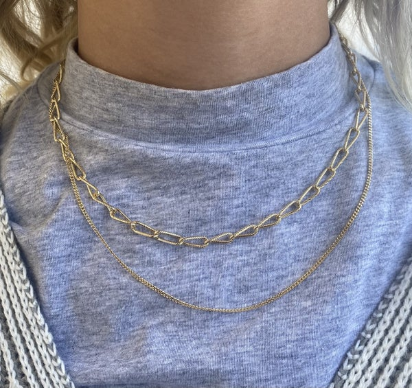Two-Layer Chain Link Necklace