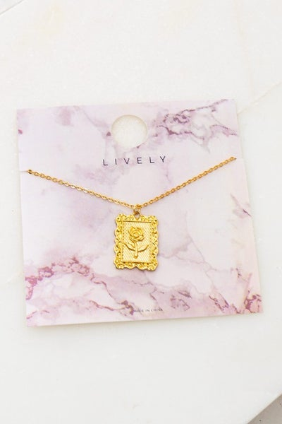 Charm Of A Rose Necklace