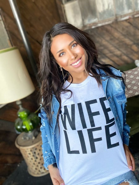 Wife Life Top - White