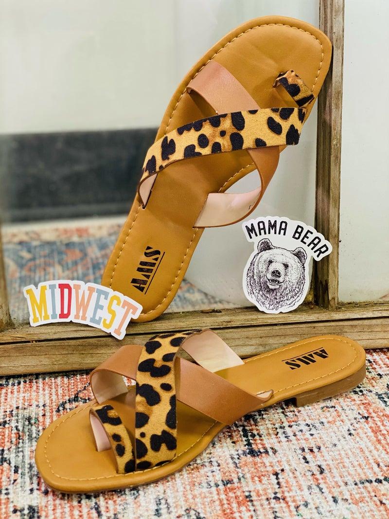 Wild and Sass Sandals - Leopard