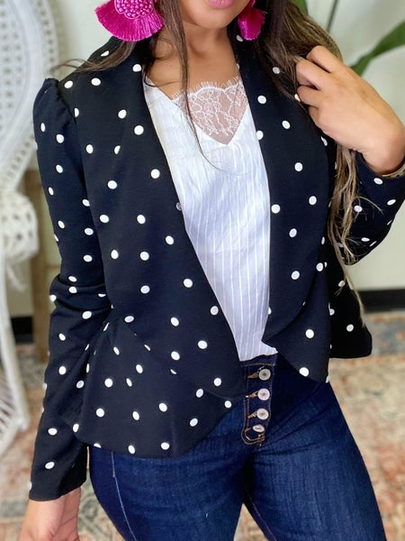 All About The Dots Blazer - Black