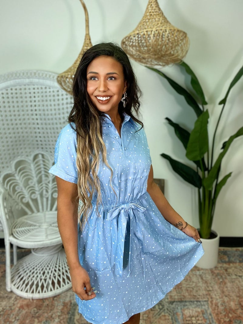 Sweet Tencel Dress - Blue
