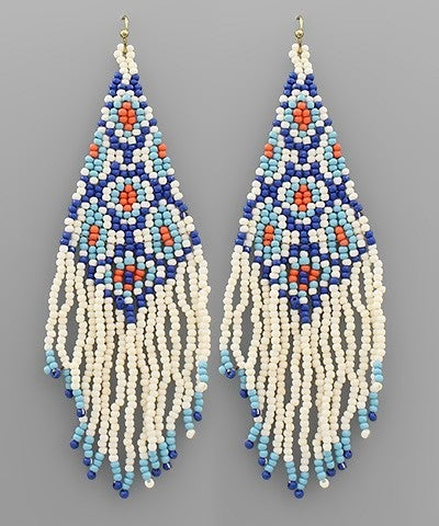 Spring Time Beaded Earrings