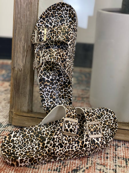 Slip 'Em On Sandals - Leopard