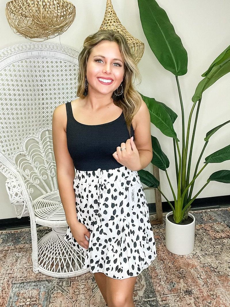 Treasure My Love Leopard Skirt - White