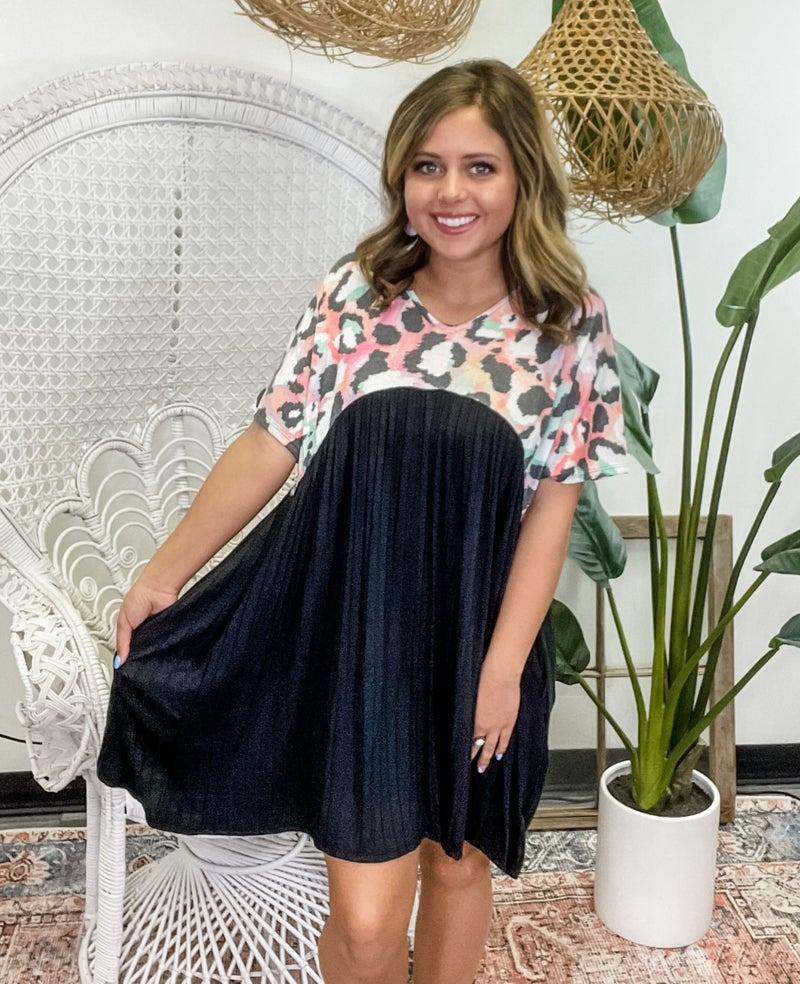 Love Of Leopard Dress - Black