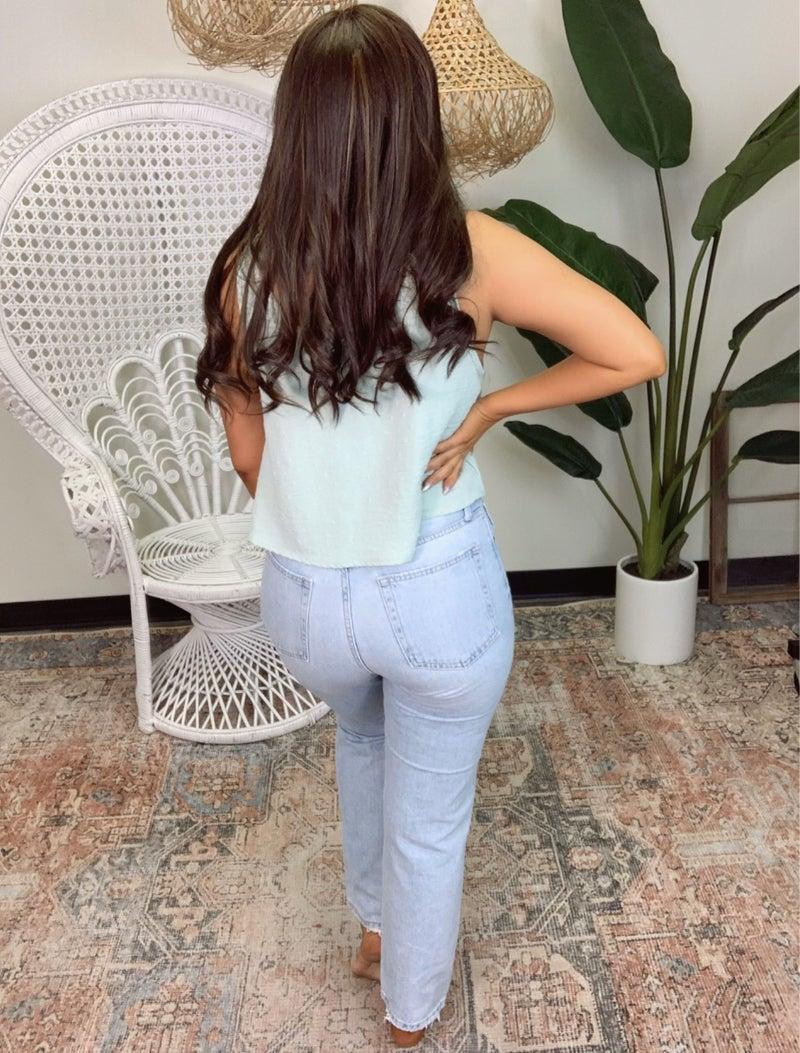 Just Black Denim High Rise Girlfriend Jeans