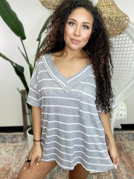 Between the Lines Striped Top