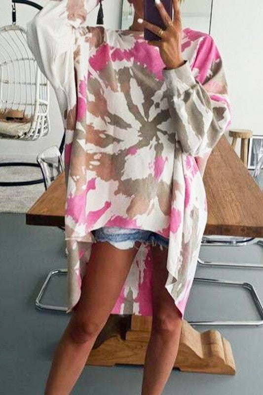 All The Swirls Top - Pink