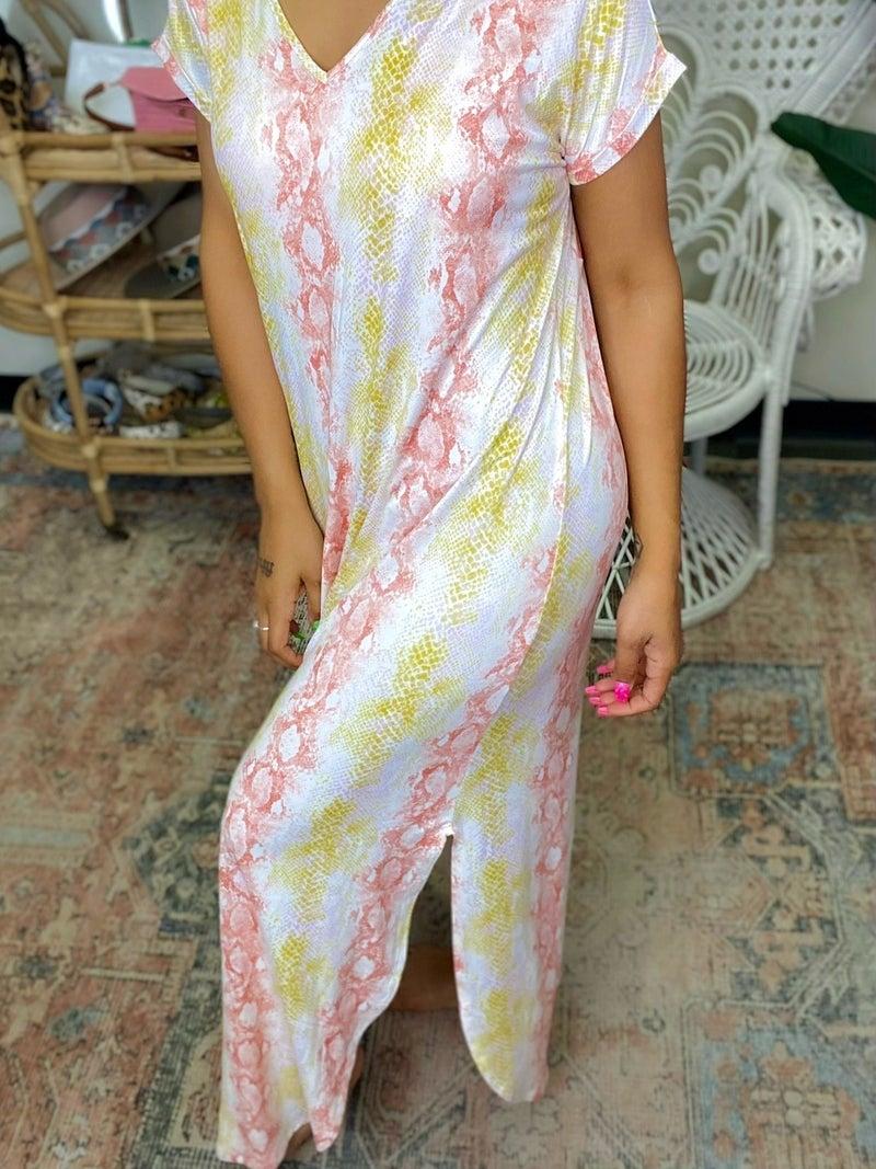 Sunset Nights Maxi Dress - Peach