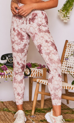 Slithering Fun Leggings - Wine