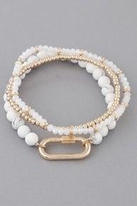 Locked In Time Beaded Bracelet Set