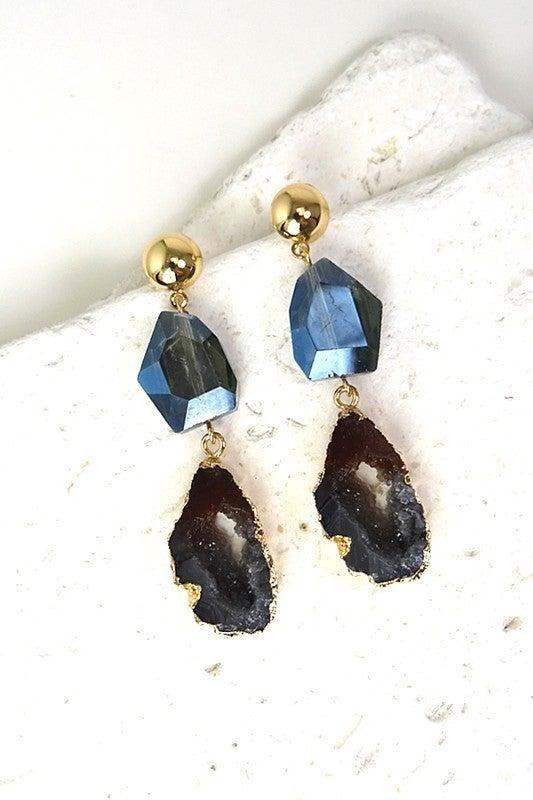 Geode Love Earrings