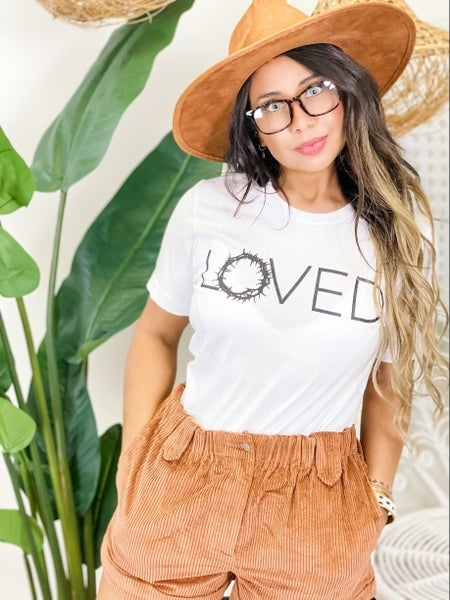 """""""Loved"""" Crown of Thorns Graphic Tee"""