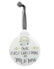 *FINAL SALE* Our First Christmas Personalizable Ornament by Brownlow Gifts