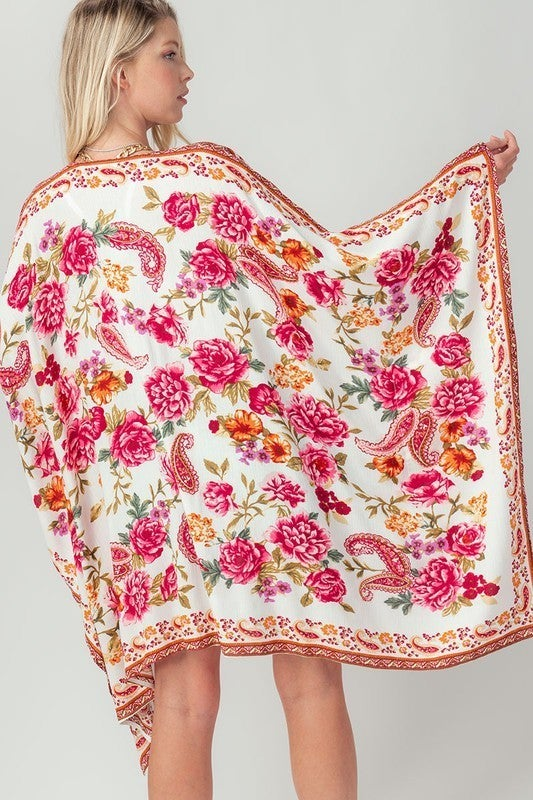 Chic Elegance Floral Kimono
