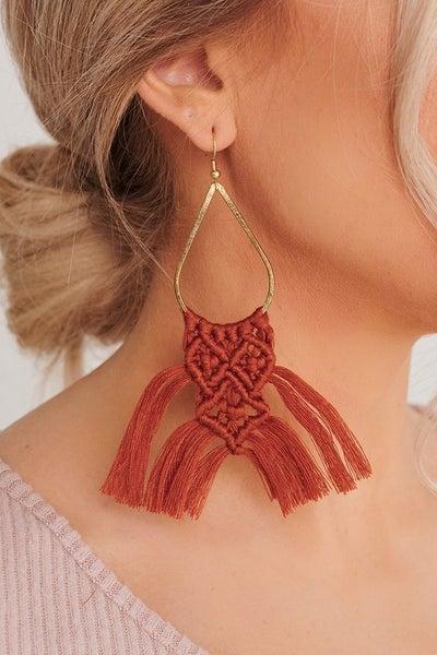 Modern Macrame Earrings