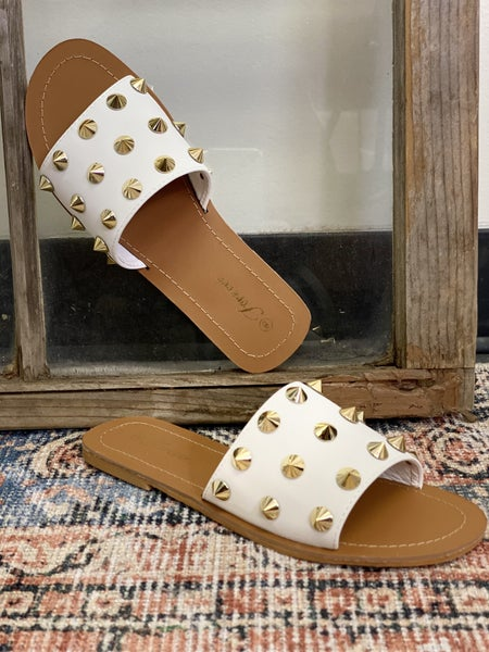 Every Day I'm Studding Sandal - White