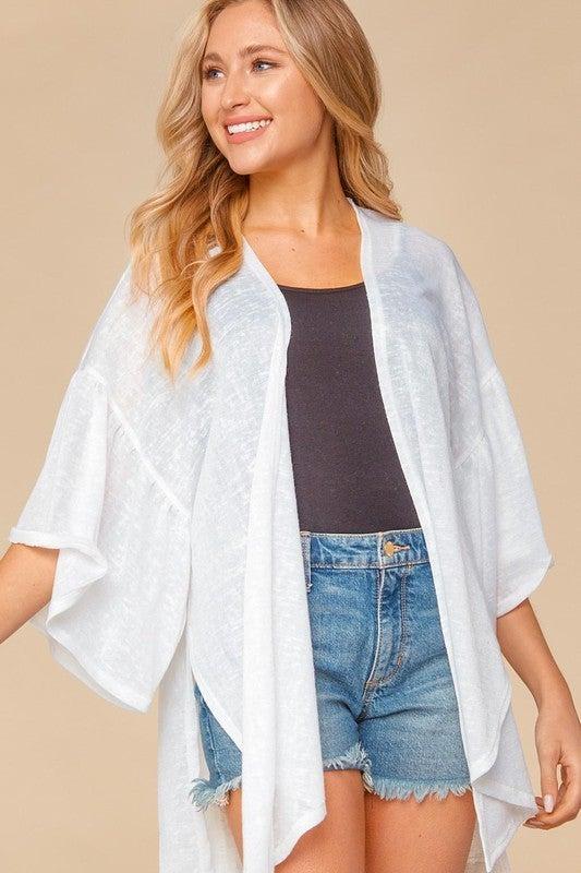 Summer Love Kimono - White