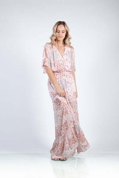 Blushing Beauty Maxi Dress