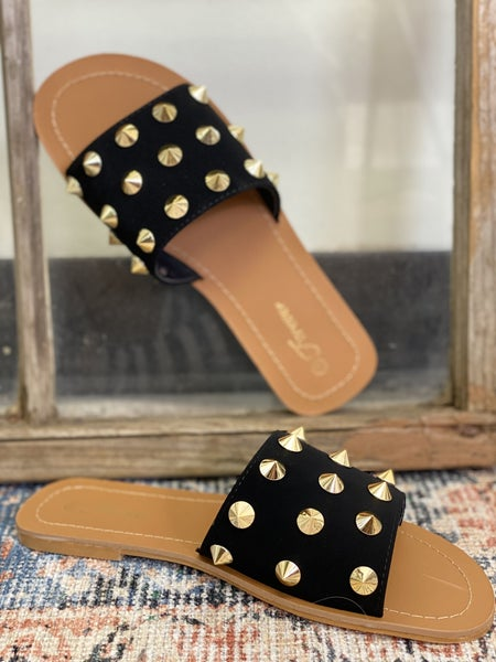 Every Day I'm Studding Sandal - Black