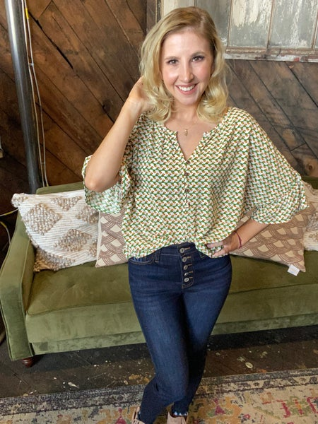 *FINAL SALE* The Perfect 70's Vibe Top