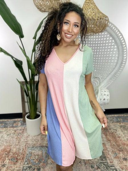 Sherbert Striped Dress