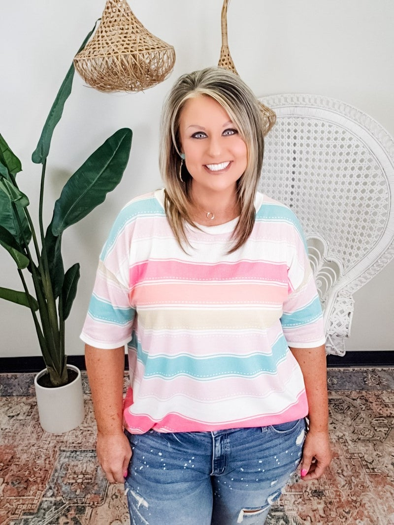 Sunny Days Striped Top