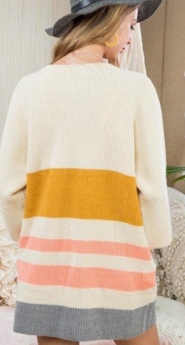 Pinwheel Striped Cardigan