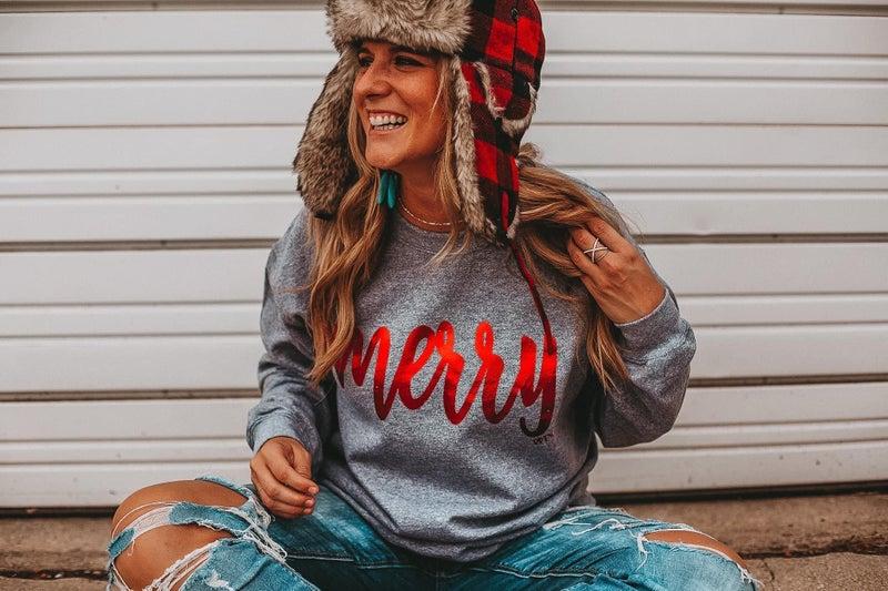Merry Foil Sweatshirt