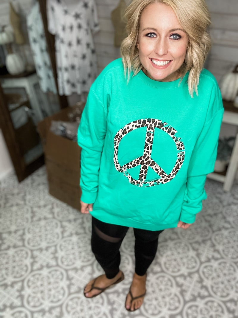 Peace Love & Leopard Sweatshirt