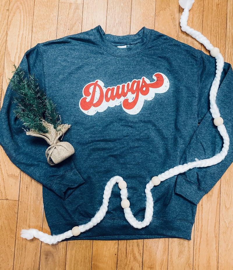 How Bout Them DAWGS Groovy Sweatshirt